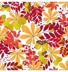seamless pattern autumn colorful vector image vector image