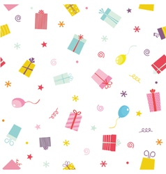 Seamless pattern with ribbons and stars vector image