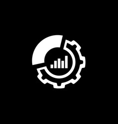 set up analytics icon flat design vector image vector image