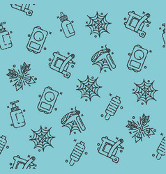 Tattoo flat icons pattern vector