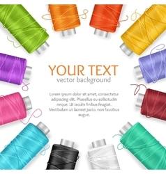 Thread Spool Banner vector image vector image