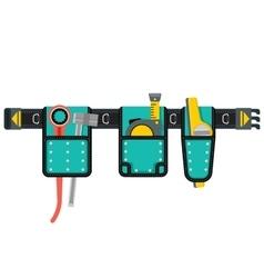 Tools belt blue vector