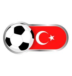 Turkey soccer icon vector