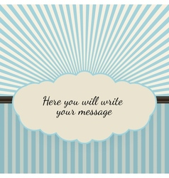 Vintage background with sunbeams vector image
