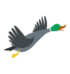 Wild duck icon vector image vector image