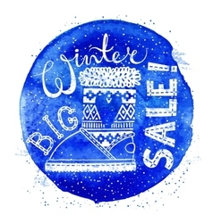Winter Special banner or label with boot on vector image