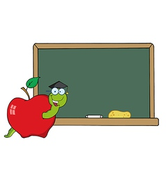 Worm teacher cartoon vector image vector image