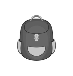 School backpack icon black monochrome style vector image