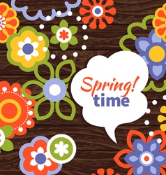 Spring design cartoon floral background vector