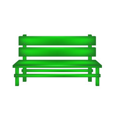 Rural bench in green design vector