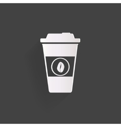 Takeaway paper coffee cup ico vector image