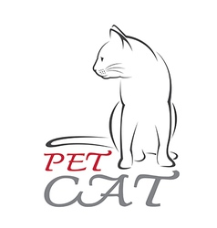 Cat pet vector