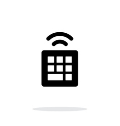 Wireless small keyboard icon on white background vector