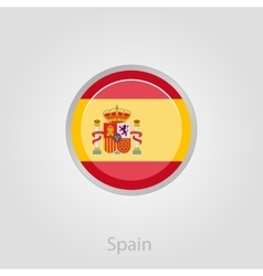 Spanish flag button vector