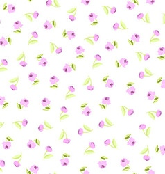 Seamless floral pattern with pink roses vector