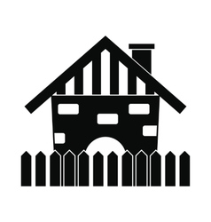 Farm house icon vector