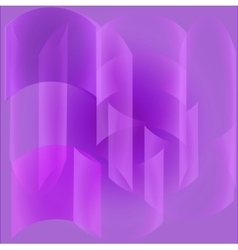 Lilac abstract background with transparent shapes vector