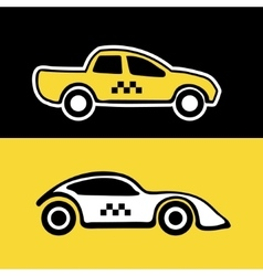 taxi service cars vector image