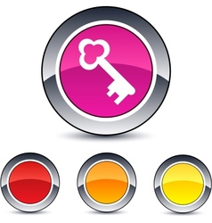 Key round button vector image