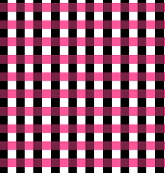 Seamless gingham pattern geometric background vector