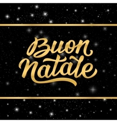 Banner with merry christmas lettering in italian vector