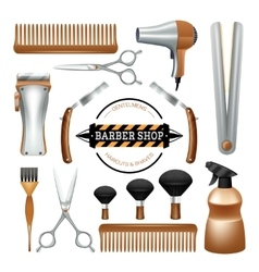 Barbershop tools set vector image vector image