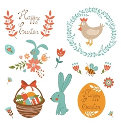 Beautiful Easter collection vector image vector image