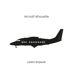 Black silhouette of a sports plane vector image vector image