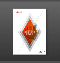 brochure cover design layout for business vector image