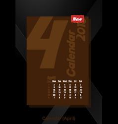 Calendar ui april image vector