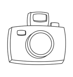 Cartoon photographic camera icon vector