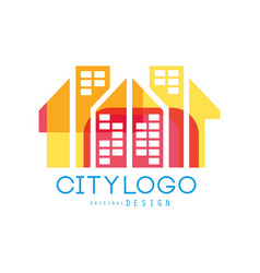 city logo original design abstract city building vector image vector image