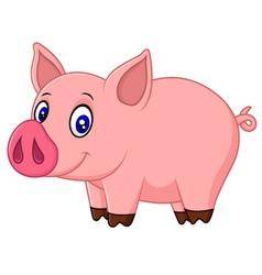Cute baby pig cartoon vector image