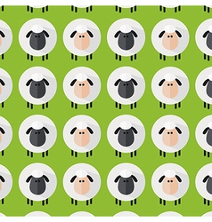 Cute Green Sheep Wallpaper vector image