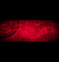 dark red technology banner design vector image vector image