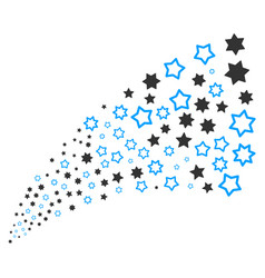 decoration stars source stream vector image vector image
