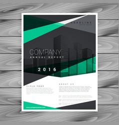 Elegant geometric shape company brochure design vector