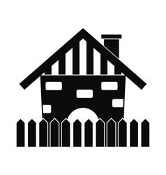 Farm house icon vector