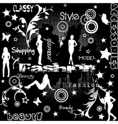 Fashion concept with women silhouettes vector image vector image