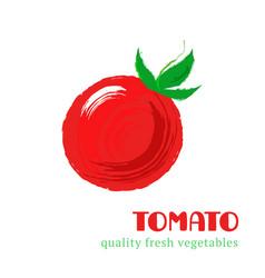 fresh tomato isolated on white background vector image