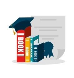 graduation school emblem icon vector image vector image
