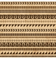 Handmade pattern with ethnic geometric ornament vector image vector image