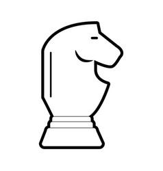 horse chess piece design vector image vector image