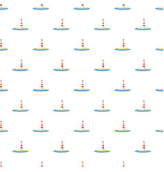 lighthouse pattern seamless vector image