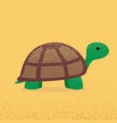 modern flat design turtle eps10 vector image