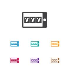 Of gambling symbol on mobile vector