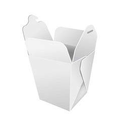 Opened paper box for food vector