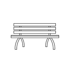 park bench icon vector image