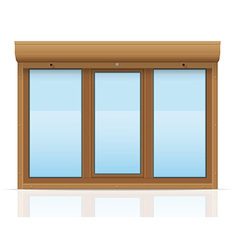 Plastic window with rolling shutters 11 vector
