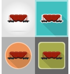 Railway transport flat icons 11 vector